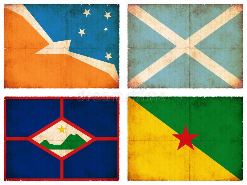 Sistema de banderas de Suramérica #4 ilustración del vector