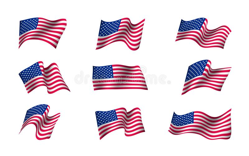 Sistema de banderas de los E.E.U.U. libre illustration