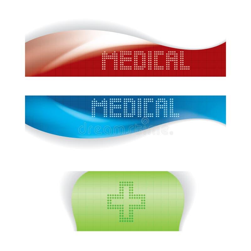 Sistema de banderas médicas o del sitio web libre illustration