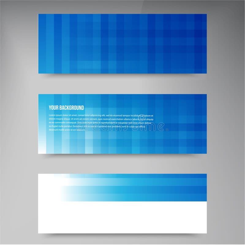 Sistema de banderas modernas del vector con las líneas stock de ilustración