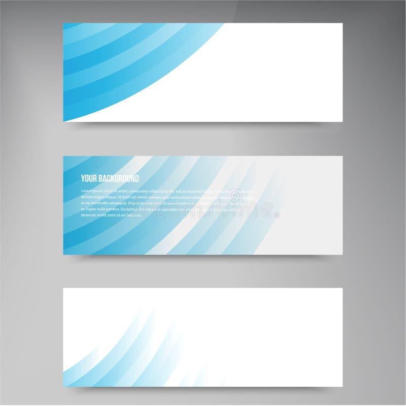 Sistema de banderas modernas del vector con las líneas libre illustration