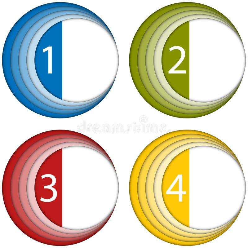 Sistema de bastidores coloridos con números libre illustration