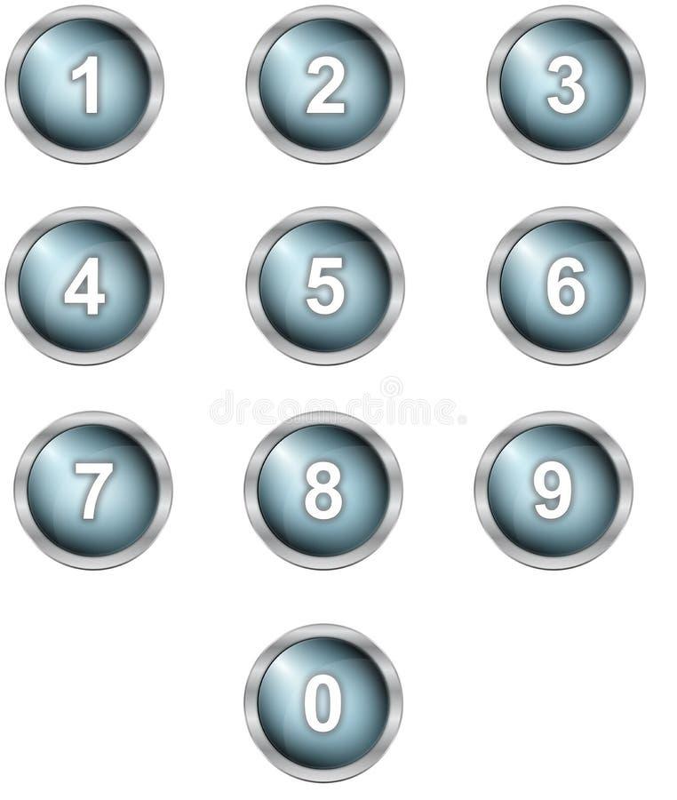 Sistema de botones del alfabeto ilustración del vector