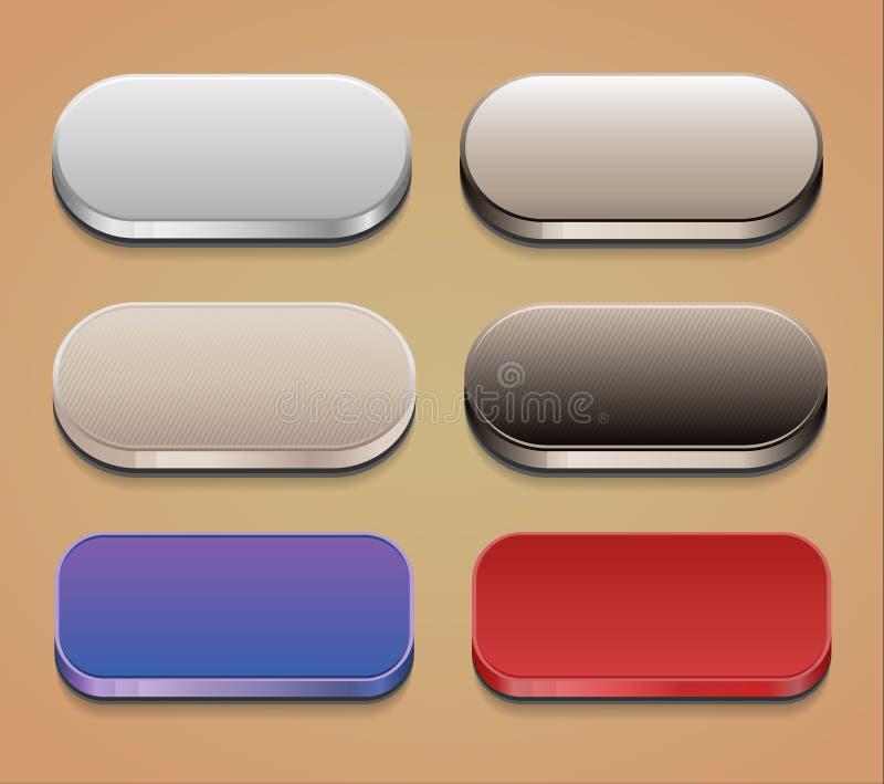 Sistema de botones del web libre illustration