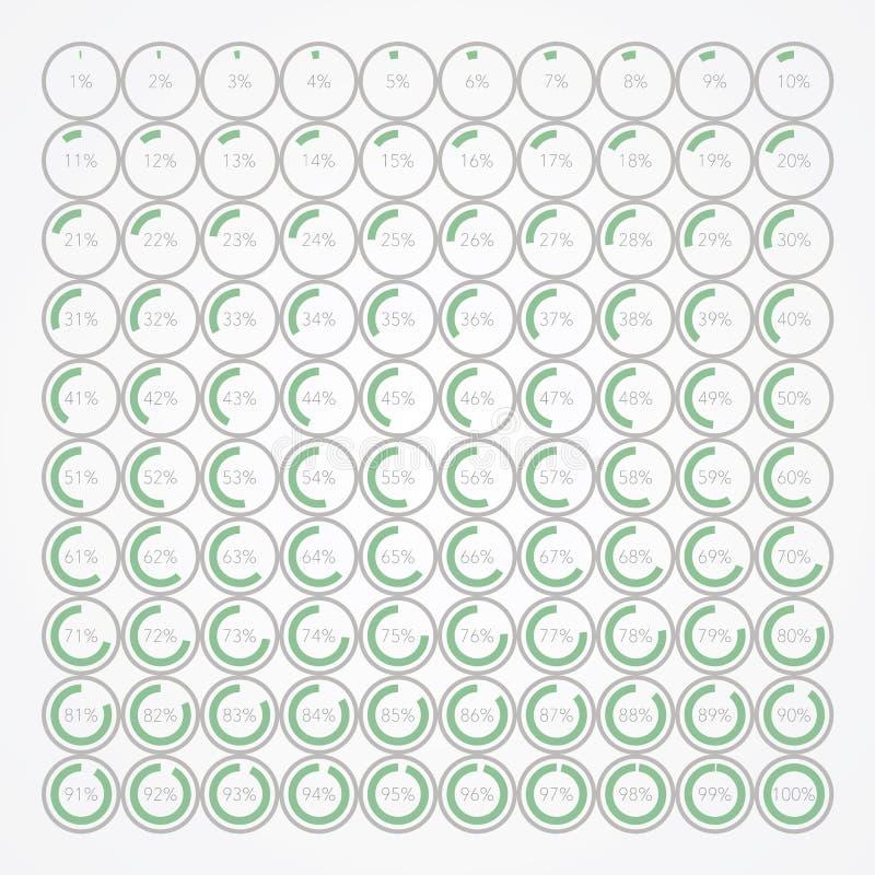 Sistema de burbujas infographic del porcentaje foto de archivo
