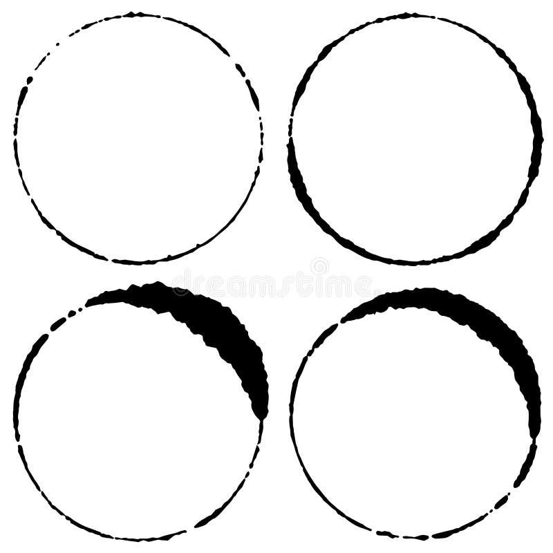 Sistema de círculos del movimiento del cepillo stock de ilustración