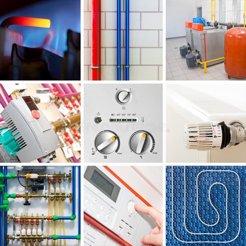 Sistema de calefacción moderno fotos de archivo