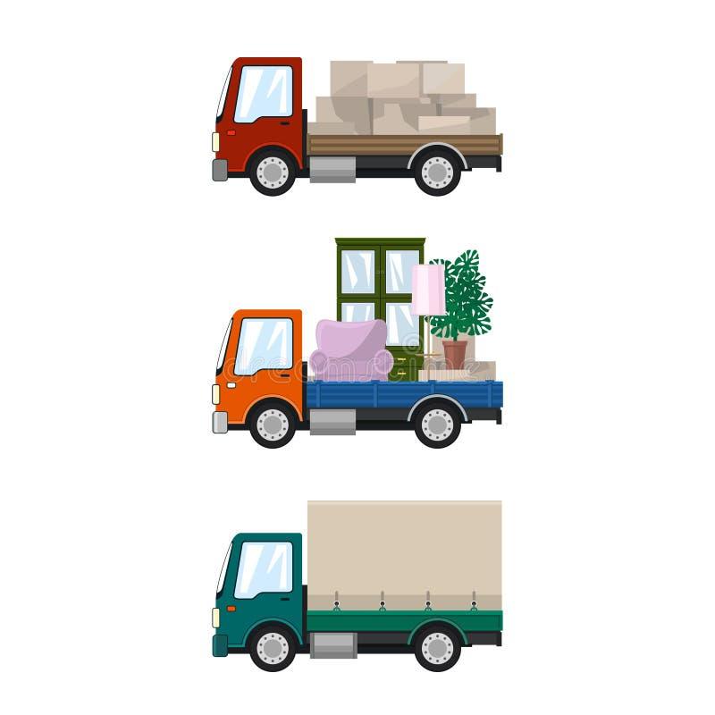 Sistema de camiones del cargo libre illustration
