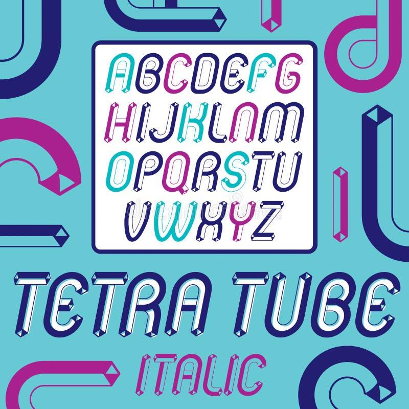 Sistema de capital moderno de moda del vector, letras mayúsculas del alfabeto libre illustration