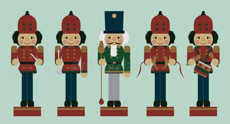 Sistema de cascanueces del músico de la Navidad libre illustration