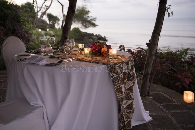 Sistema de cena romántico Bali imagen de archivo libre de regalías