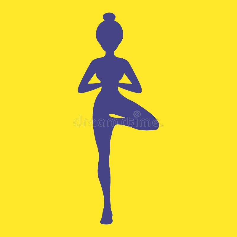 Sistema de centro enérgico principal del icono del ser humano con la silueta del cuerpo que hace actitud de la yoga Vector Eps10 ilustración del vector