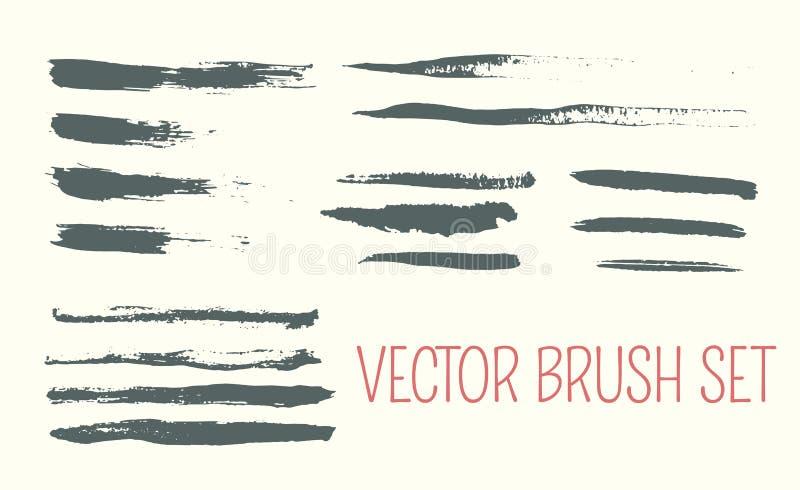 Sistema de cepillos del arte Cepillos dibujados mano de la aduana con los bordes ásperos libre illustration