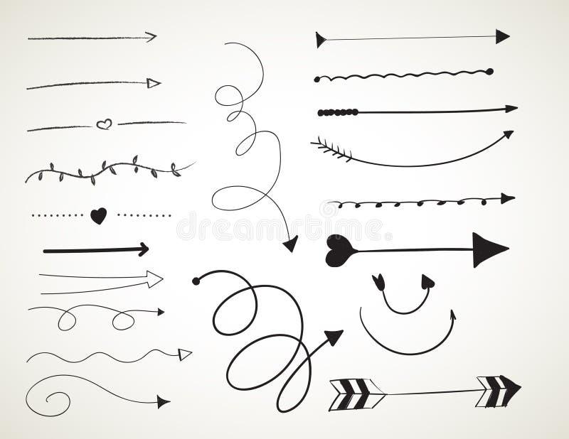 Sistema de cepillos negro del arte de la tinta libre illustration