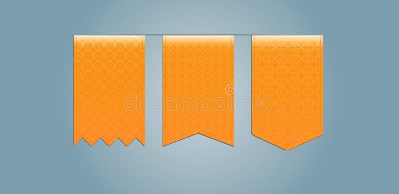 Sistema de cintas de la tela con el modelo ilustración del vector