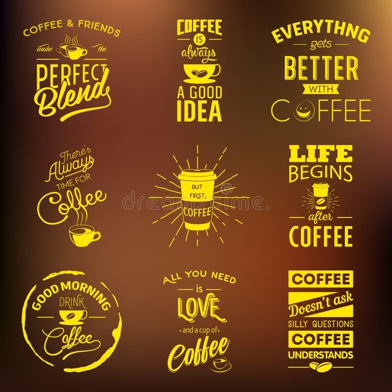 Sistema de citas tipográficas del vino del vintage libre illustration