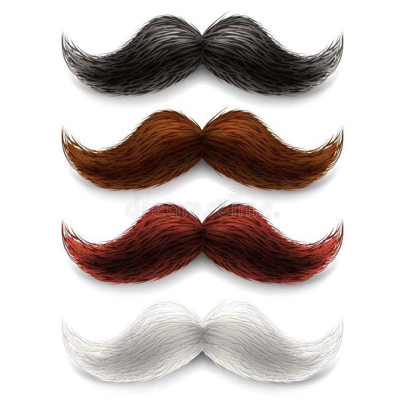 Sistema de color falso de los bigotes stock de ilustración
