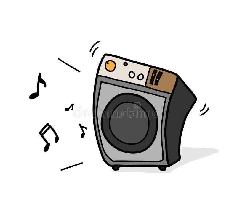 Sistema de colunas audio ilustração stock