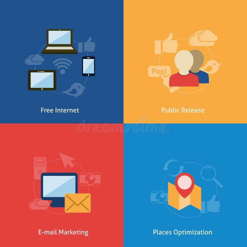 Download Sistema De Compositin Plano Ilustración del Vector - Ilustración de media, negocios: 42436014