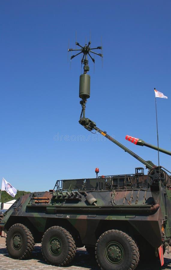 Sistema de comunicação do exército imagens de stock royalty free
