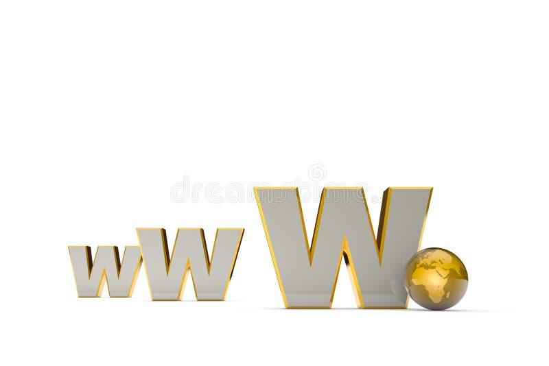 Sistema de comunicação internacional Criação e promoção do th ilustração royalty free
