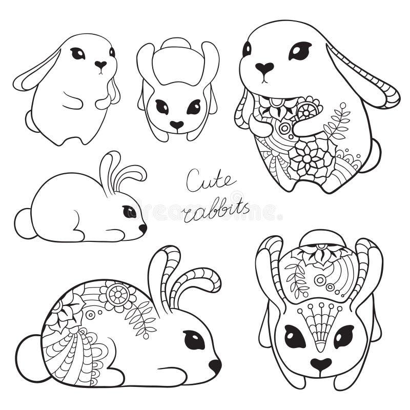 Sistema de conejos lindos libre illustration