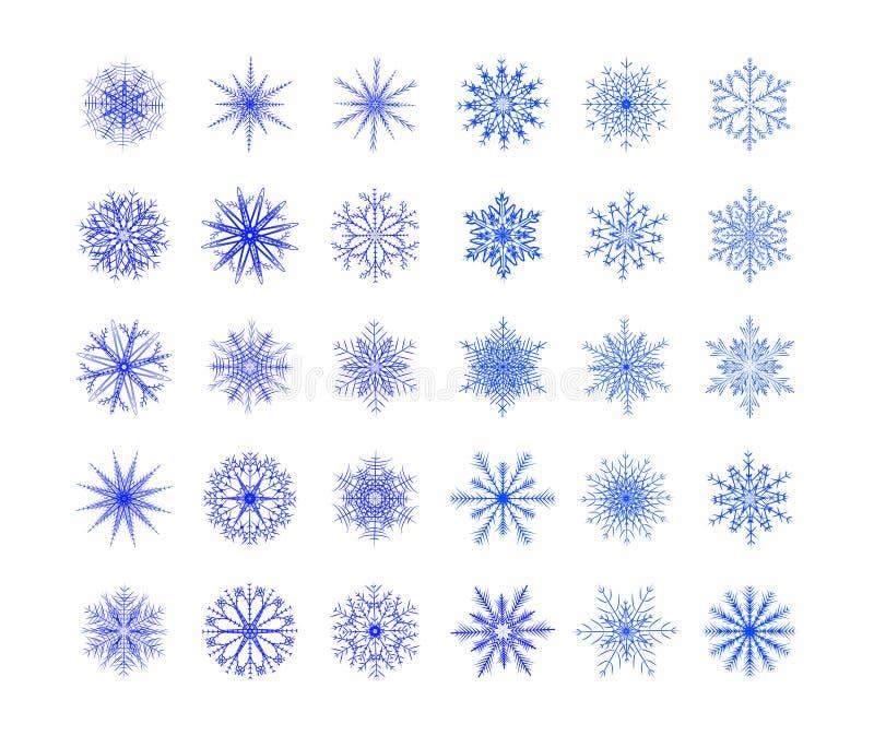 sistema de copos de nieve libre illustration