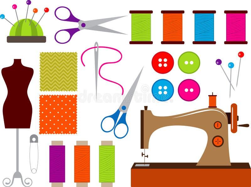 Sistema de costura stock de ilustración