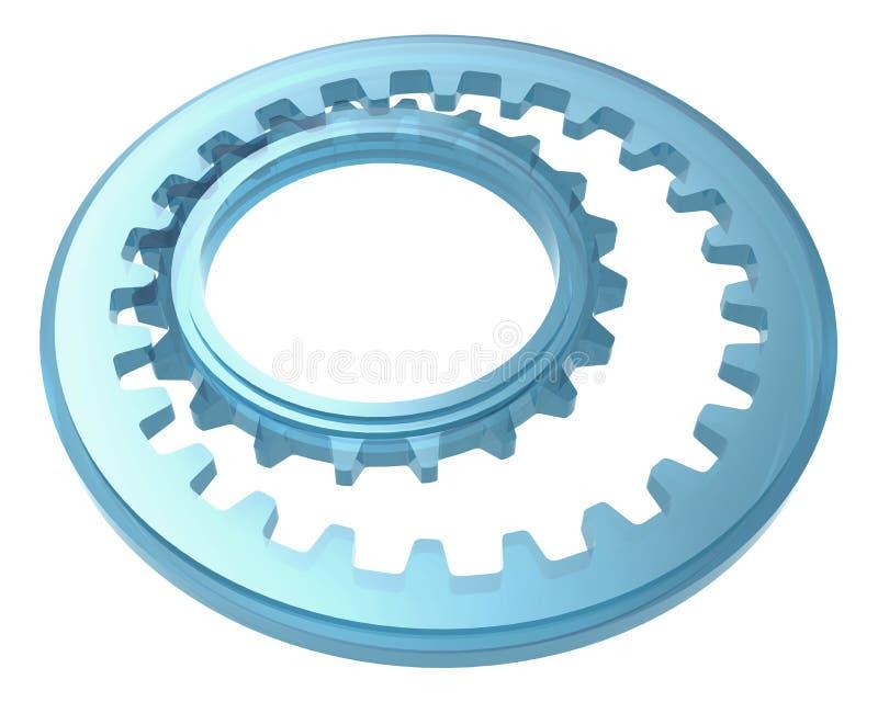 Download Sistema De Cristal De La Rueda Dentada Stock de ilustración - Ilustración de azul, cogwheel: 64206142