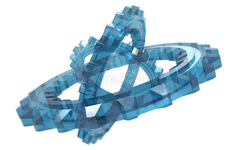 Download Sistema De Cristal De La Rueda Dentada Stock de ilustración - Ilustración de mecanismo, dientes: 64206156