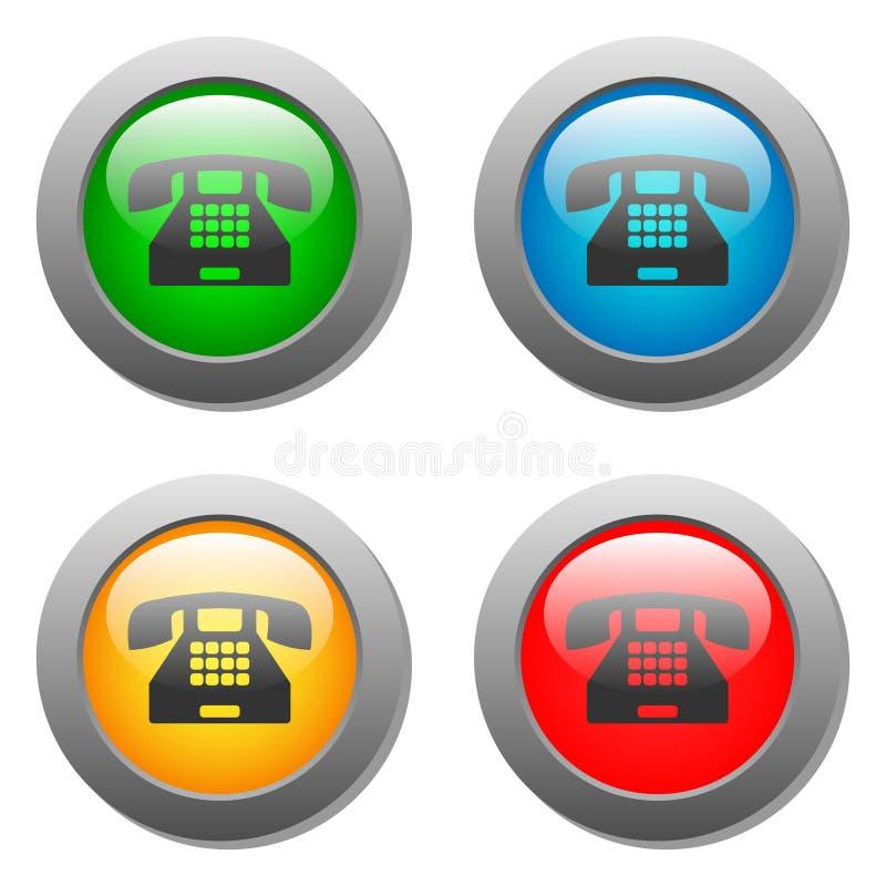 Download Sistema De Cristal Del Botón Del Icono Del Teléfono Stock de ilustración - Ilustración de equipo, ayuda: 42442476