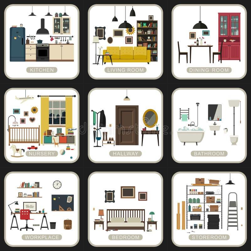 Sistema de cuartos interiores libre illustration