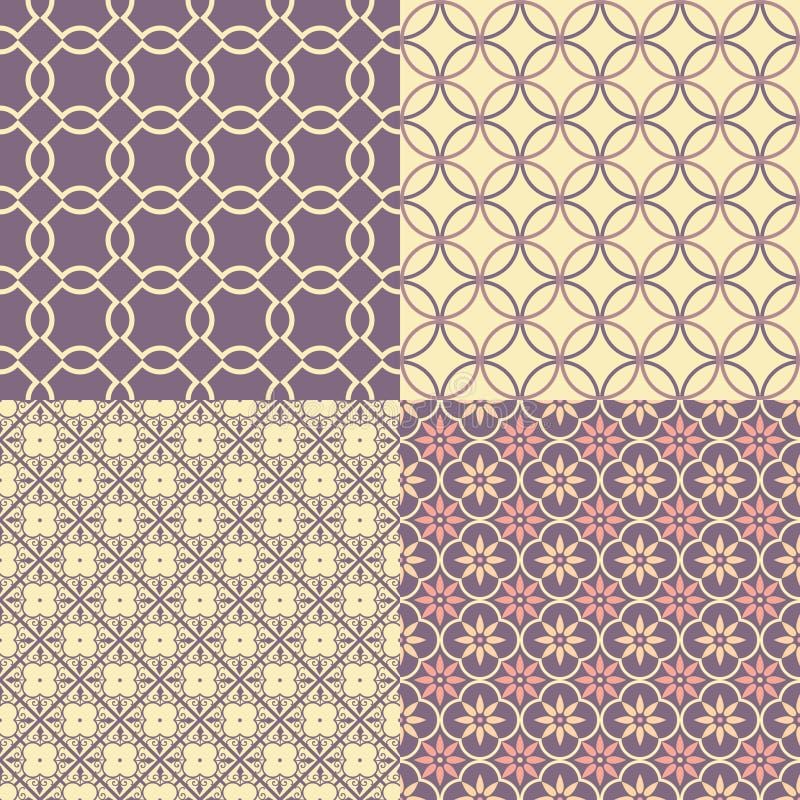 Modelos abstractos inconsútiles ilustración del vector