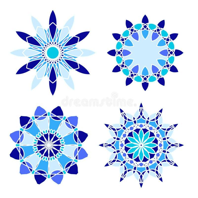 Sistema de cuatro ornamentos del círculo ilustración del vector