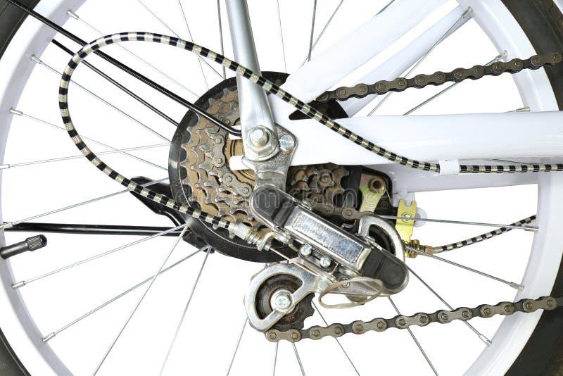 Sistema de deslocamento da engrenagem da bicicleta, isolado fotos de stock royalty free