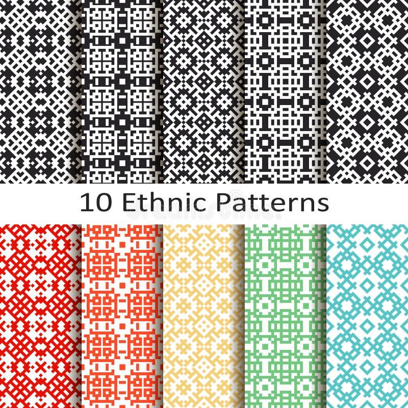 Sistema de diez modelos étnicos libre illustration