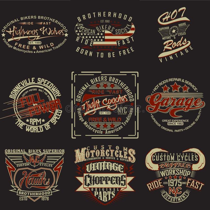 Sistema de diseños de la impresión de la camiseta libre illustration