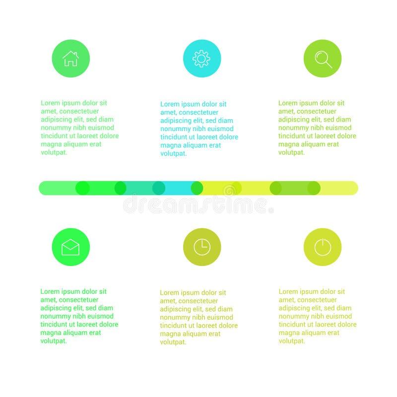 Sistema de disposiciones infographic de la plantilla Organigrama libre illustration