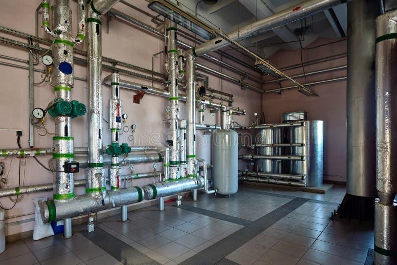 Sistema de distribuição do líquido refrigerante através das tubulações, distribuição de fotografia de stock royalty free