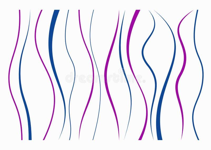 Sistema de diversas líneas curvadas libre illustration