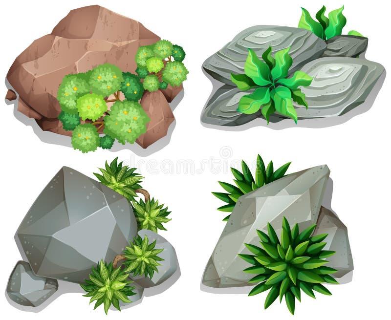 Sistema de diversas rocas libre illustration