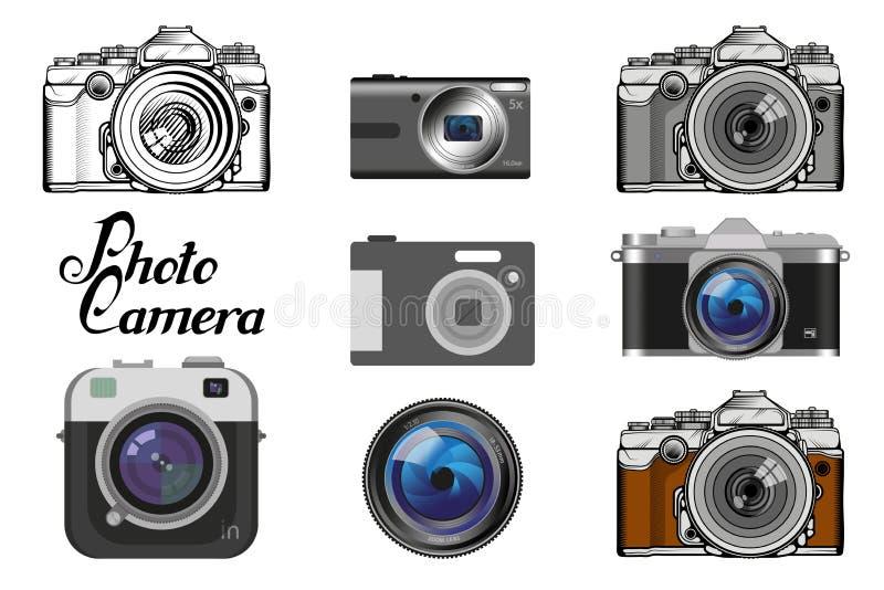 Sistema de diverso icono de la cámara libre illustration
