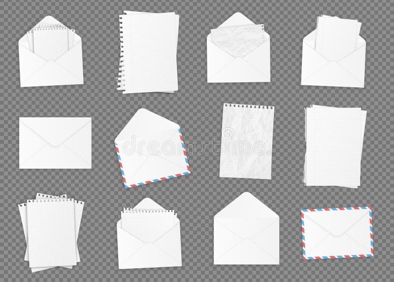 Sistema de diverso Libro Blanco en blanco ilustración del vector