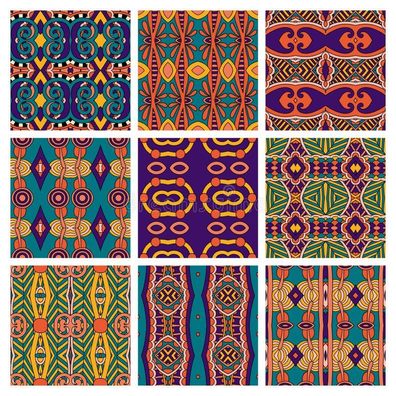 Sistema de diverso vintage coloreado inconsútil ilustración del vector