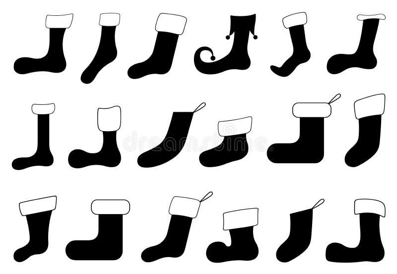 Sistema de diversos calcetines de la Navidad libre illustration