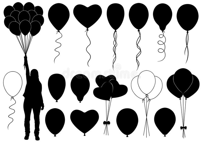 Sistema de diversos globos libre illustration