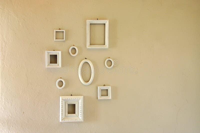 Sistema de diversos marcos formados imagen de archivo