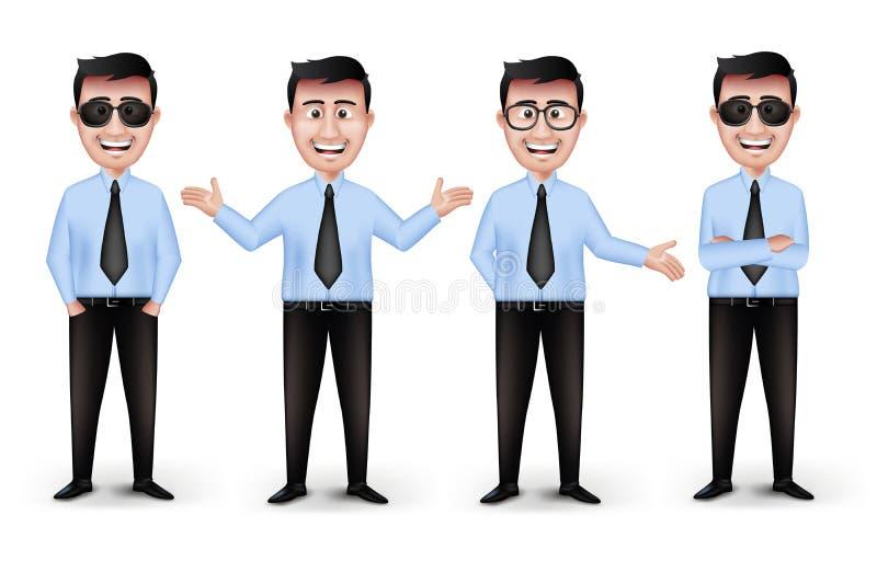 Sistema de diversos profesionales elegantes realistas stock de ilustración
