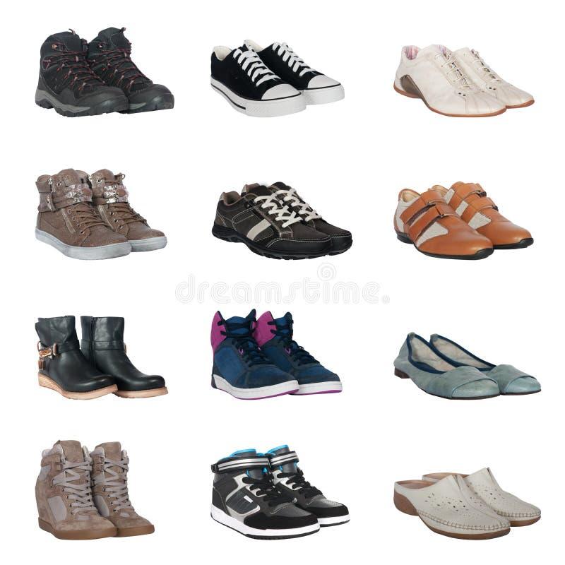 Sistema de diversos zapatos imagenes de archivo