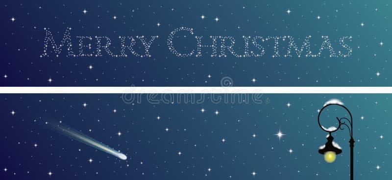 Sistema de dos banderas de la Navidad stock de ilustración